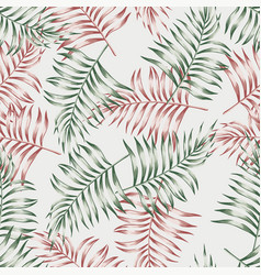 pattern from palm leaves vector image