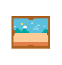 picture with sunny weather vector image