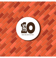 red brick background texture Eps 10 vector image