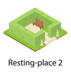 Resting place icon isometric style vector