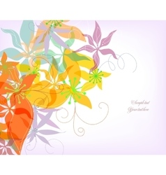 Romantic colorful flower background vector image