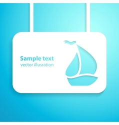 Sail boat applique background vector