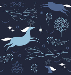 seamless pattern with unicorns vector image