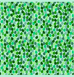 seamless repeating pattern with green leaf vector image