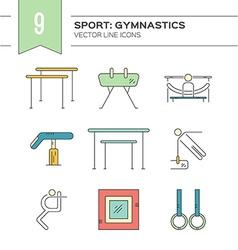 Set of Gymnastics Icons vector image