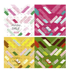 set of modern art abstract banner square frame vector image