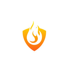 shield fire logo icon design vector image