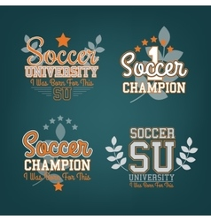 Soccer Badges Set vector