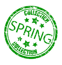 spring collection rubber stamp concept consumerism vector image