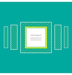 Square striped frame Flat design vector image