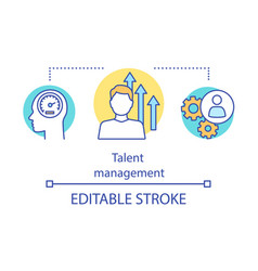 Talent management program concept icon vector
