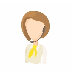 Taxi dispatcher with headset icon cartoon style vector
