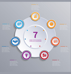 template modern infographic for 7 options vector image