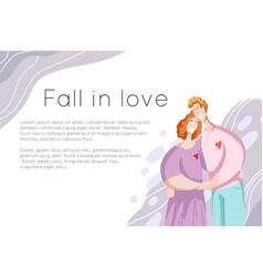Template site banner with happy couple hugging vector