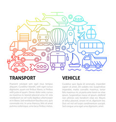 transport line template vector image