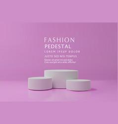 Vilet minimal scene podiumfor cosmetic product vector