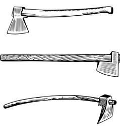 Vintage axe vector