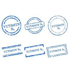 Vitamin B4 stamps vector image