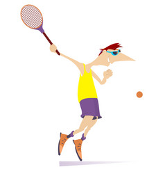 young man playing tennis isolated vector image