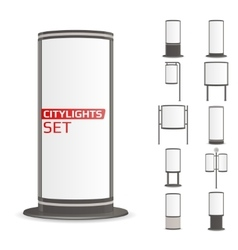 Advertise citylights set vector image