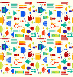 background with icons of kitchen ware and utensils vector image vector image