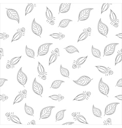 background with leaves contours vector image vector image