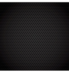 Black background of carbon fibre texture vector image vector image