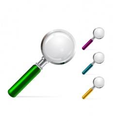 Magnifier illustration vector