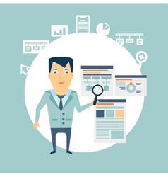 programmer works with programs vector image vector image