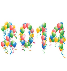 2014 new year balloons background vector image vector image