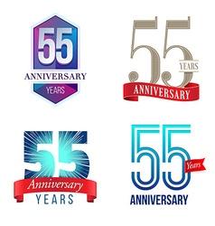55 Years Anniversary Symbol vector image