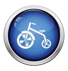 Baby trike icon vector