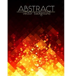 Bright orange fire grid abstract vertical vector