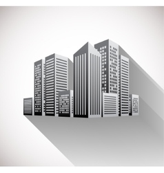 Cityscape with long shadow vector image