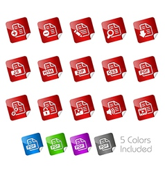 Documents Stickers vector image vector image