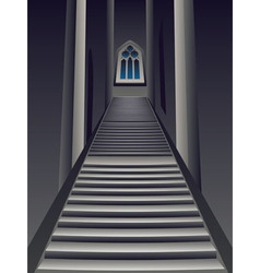 Gothic Stairs Interior vector image