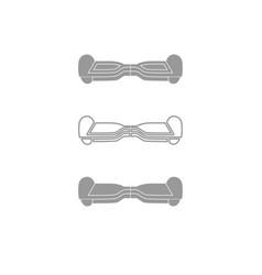 gyroboard icon grey set vector image vector image