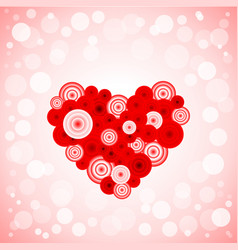 heart from circles vector image vector image