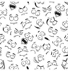 Human cartoon emoticon faces pattern vector image