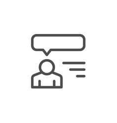 human opinion line icon vector image