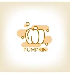 pumpkin logo design template vector image