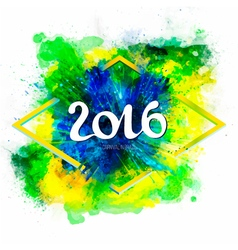 Signs symbols inscription 2016 on a ink explosion vector image