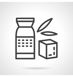 Whole cereal pack simple line icon vector image vector image