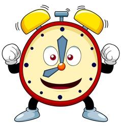 Cartoon alarm clock vector image vector image