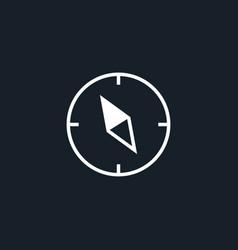 Compass icon simple vector