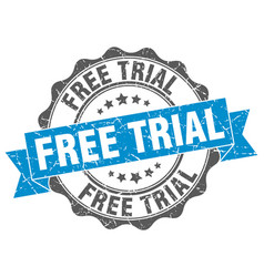 Free trial stamp sign seal vector