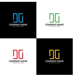 letter dg logo icon flat vector image