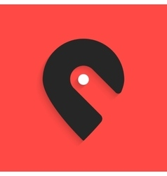 pin icon like hook with shadow vector image