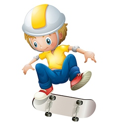 A boy playing with the rollerskate vector image