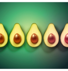 Background with avocado vector image